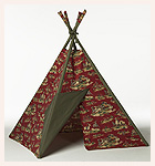 Wild Wild West Tee Pee in Red with Olive Trim