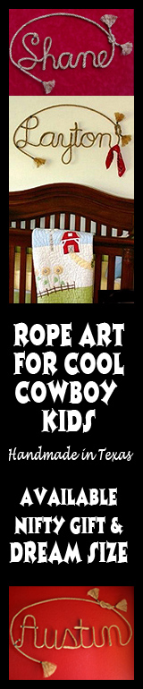 Rope Art to Personalize Cowboy & Cowgirl Bedrooms